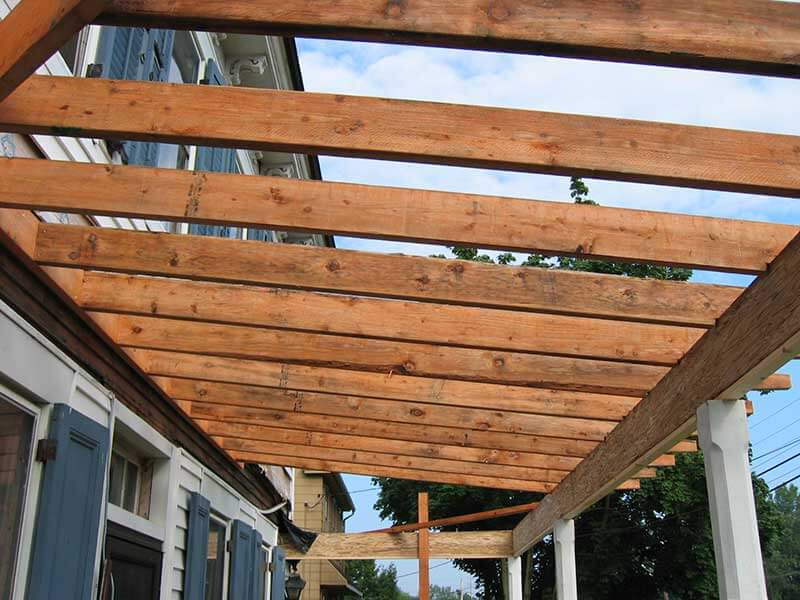 Roof deck and framing kaller sons contractors for Deck roof plans