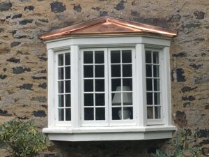 Copper Awning Bay Window