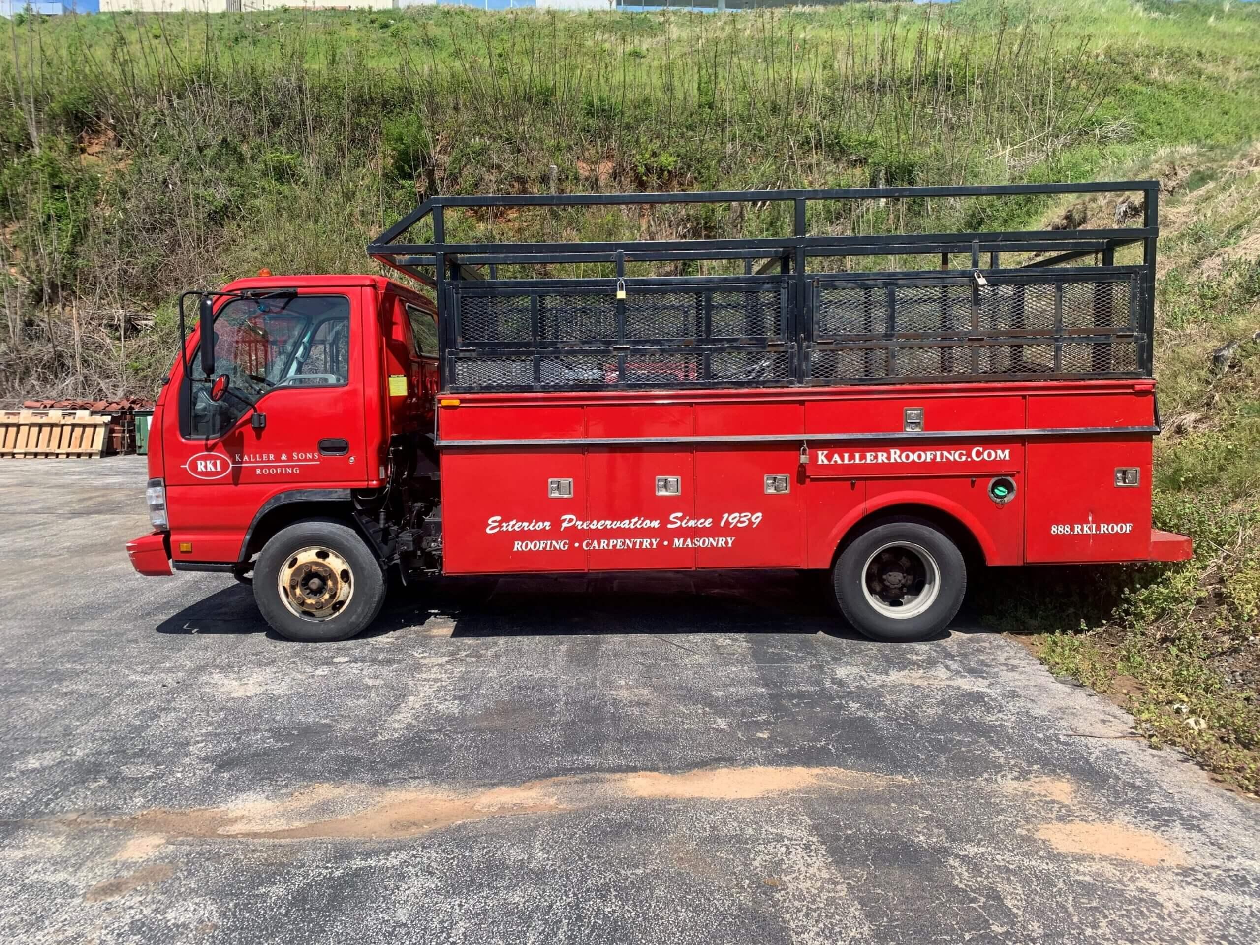 Kaller Roofing Truck